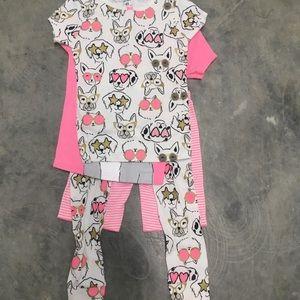 Carter's four piece pajama set - puppies/dogs